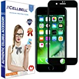 CELLBELL (5D) Fullbody Tempered Glass Screen Protector with Installation Kit for Apple iPhone 7 (Black)