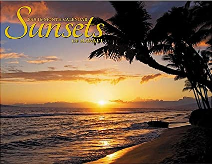 Hawaii School Calendar 2019-16 Amazon.: Sunsets of Hawaii, 2019 16 Month Trade Calendar