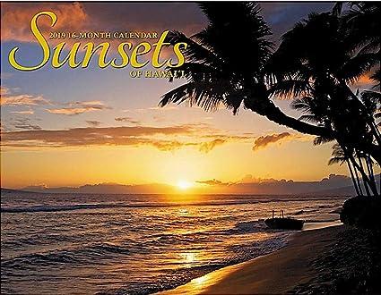 Sunset 2020 Calendar Amazon.: Sunsets of Hawaii, 2019 16 Month Trade Calendar