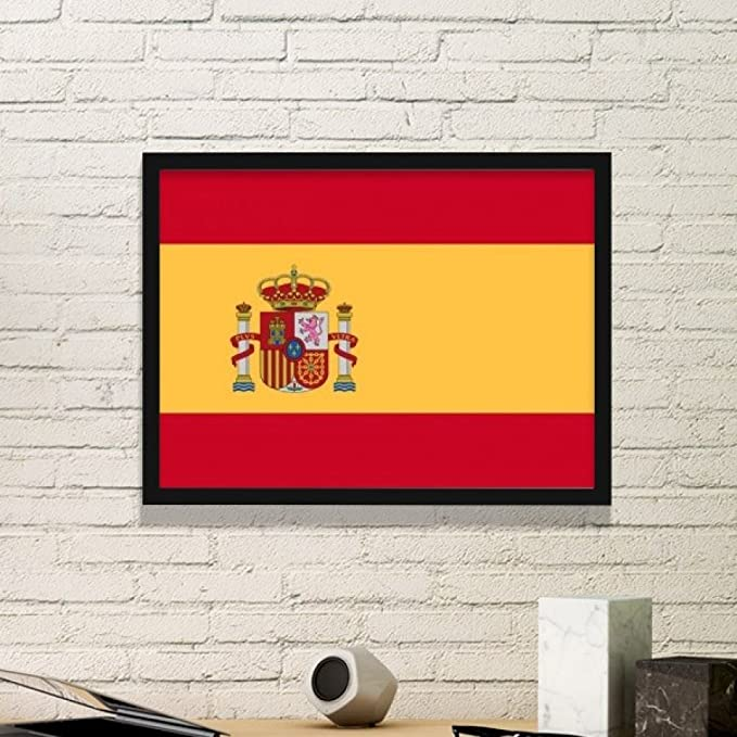DIYthinker España Nacional a la Bandera Europa País símbolo de Marca de patrón Simple Marco de Fotos de Cuadros de Pinturas casera de la Pared Pequeño Negro: Amazon.es: Hogar