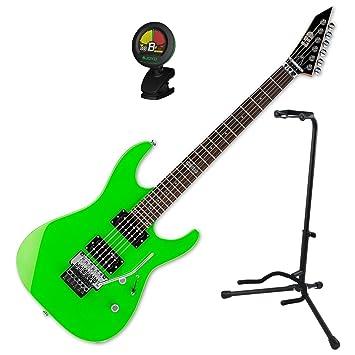 Esp m50frngr Ltd M-50 fr Neon Verde guitarra eléctrica w/stand y sintonizador: Amazon.es: Instrumentos musicales