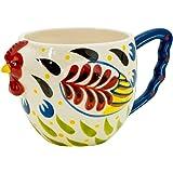 Boston Warehouse Earthenware Mug, Colorful Rooster Design