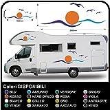 kit 2 pcs d 39 autocollants pour caravanes et pour courses ou v hicules hautes vagues. Black Bedroom Furniture Sets. Home Design Ideas