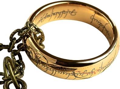 Anillo con cadena de El señor de los anillos, con caja: Amazon.es: Joyería