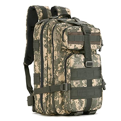 32370cd1c0 FlyHawk 40L Tactical Assault Backpack Large 3 Days Pack Army Molle Bug Out Bag  Backpacks