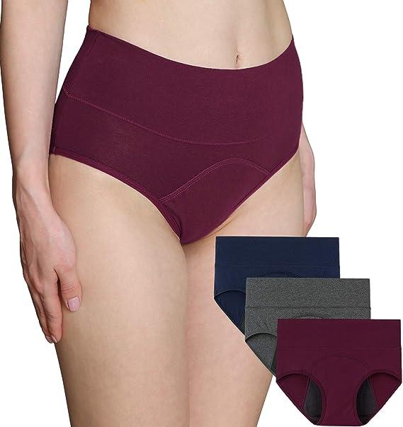 INNERSY Mutande Assorbenti Donna Vita Alta Slip Cotone Ciclo Mestruale  Intimo Post Parto Pacco da 3: Amazon.it: Abbigliamento