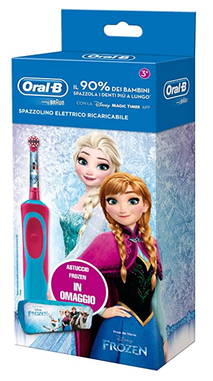 Oral-B Vitality 81633850 Niño Cepillo dental oscilante Azul, Rosa cepillo eléctrico para dientes