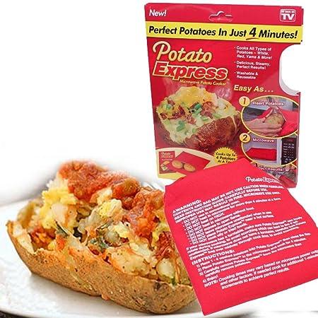 Cocedor patatas de horno microondas Saco Potato Express: Amazon.es ...