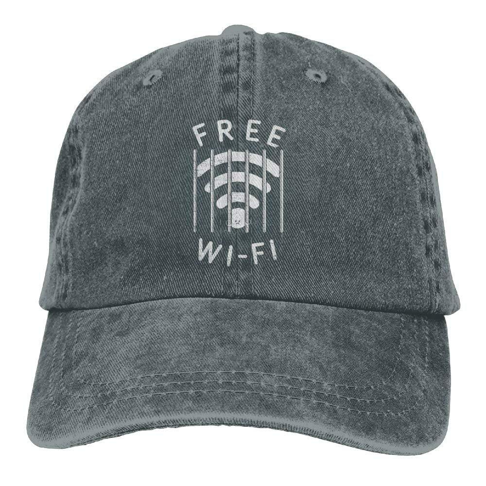 bowlife Free WI-Fi Denim Hat Baseball Cap