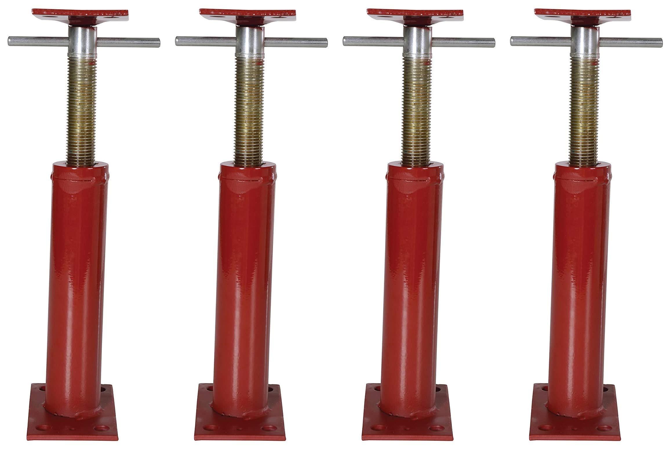 """Vestil FJB-16 Basement Floor Jack, 12"""" - 16"""" Height Range, Maximum Height Capacity (lbs.) 9738, Minimum Height Capacity (lbs.) 9738 (Four Pack)"""