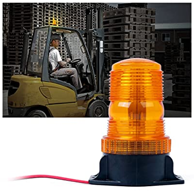 Xprite 30 LED Amber/Yellow 15W Emergency Warning Flashing Safety Strobe Beacon Light for Forklift Mower Truck Tractor Golf Carts UTV Car Bus: Automotive