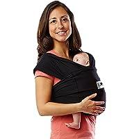 Baby K'tan Original Portador de bebé, algodón elástico color negro, Original, XS, Negro
