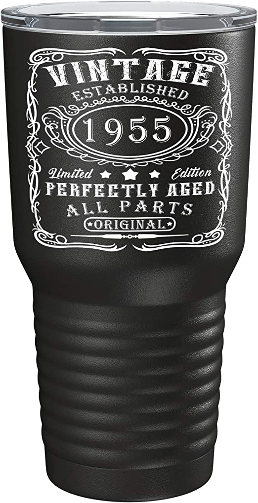 Mens Funny \ Novelty 65th Birthday T-Shirt Gift Present Idea Bottles 1955