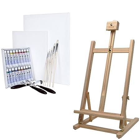 Artina Sydney - Set de Pintura - Caballete de Pintura de Mesa ...