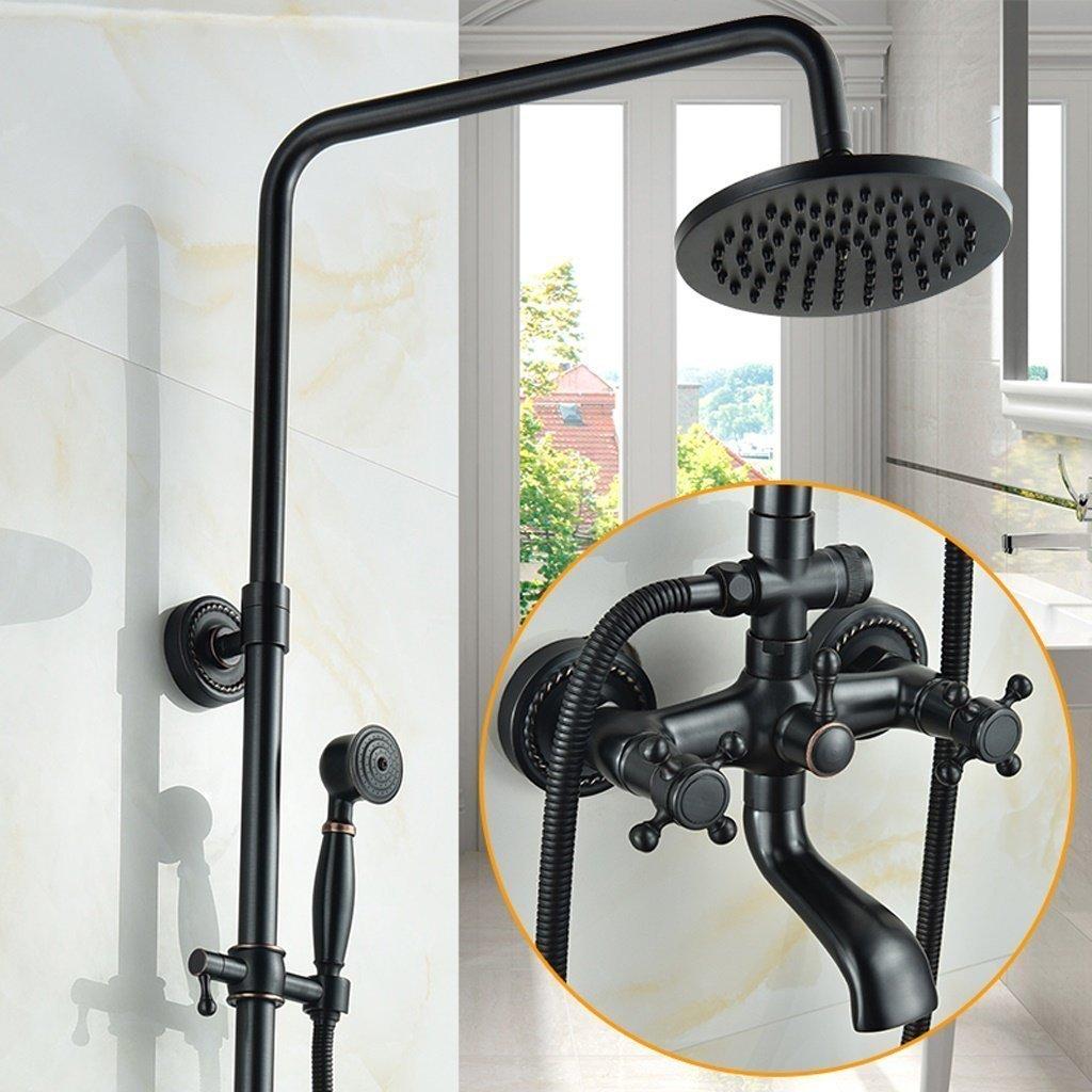 Amazon Com Momo Dusche Set Schwarz Voll Kupfer Badezimmer Set