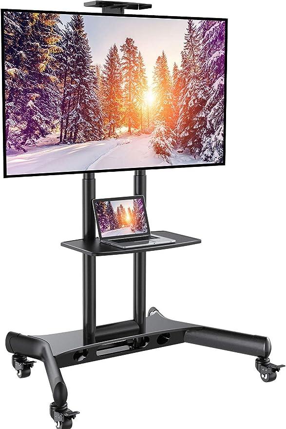 Carrito de TV móvil con ruedas para televisores de 32 a 65 pulgadas: Amazon.es: Electrónica