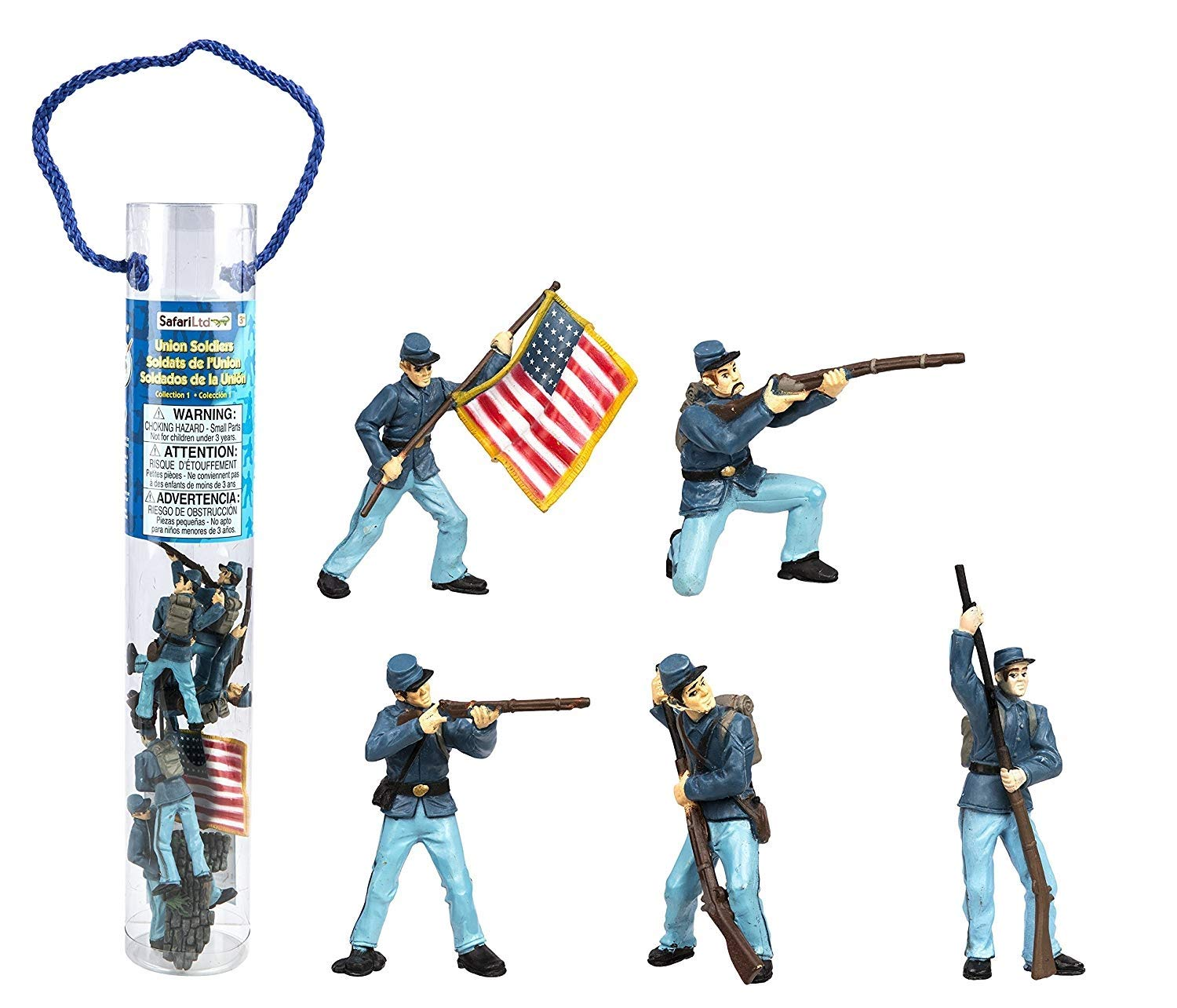 American Civil War Union Action figure Set in Tube 1//32 Toy Soldiers