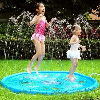 Water Toys Fun For Children Toddlers Kids Outdoor Party Sprinkler Splash Pad