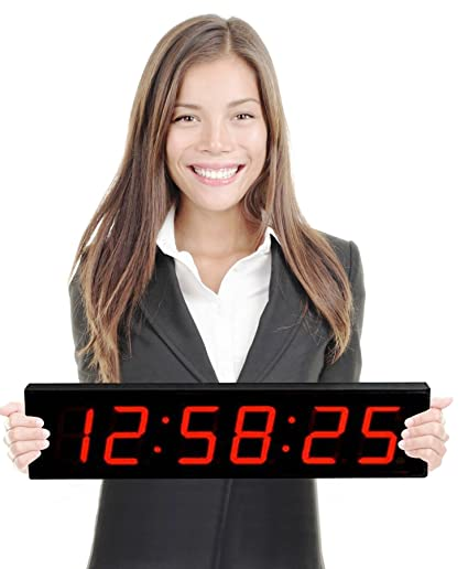 Amazoncom Large Display Digital Countdown Wall Clock 4 Red Led