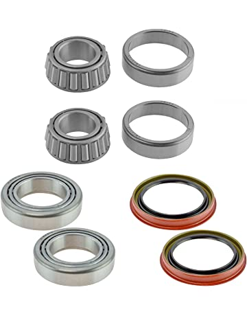 Front Inner & Outer Wheel Bearing w/Seal Pair LH & RH Sides for Ford