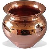 Santosh Copper Combo of Handmade Copper Lota | Kalash | Pooja Utensil for Home & Tempal in 100% Copper of 1 Copper Pooja Plate