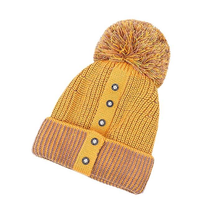 Kobay Le Donne mantengono Il Cappello Caldo del Cappello della Rappezzatura  della Lana Lavorato a Maglia dei Cappelli di Inverno  Amazon.it   Abbigliamento 4c268d42363f
