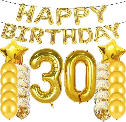 Amazon.com: Sweet 30th cumpleaños decoraciones suministros ...