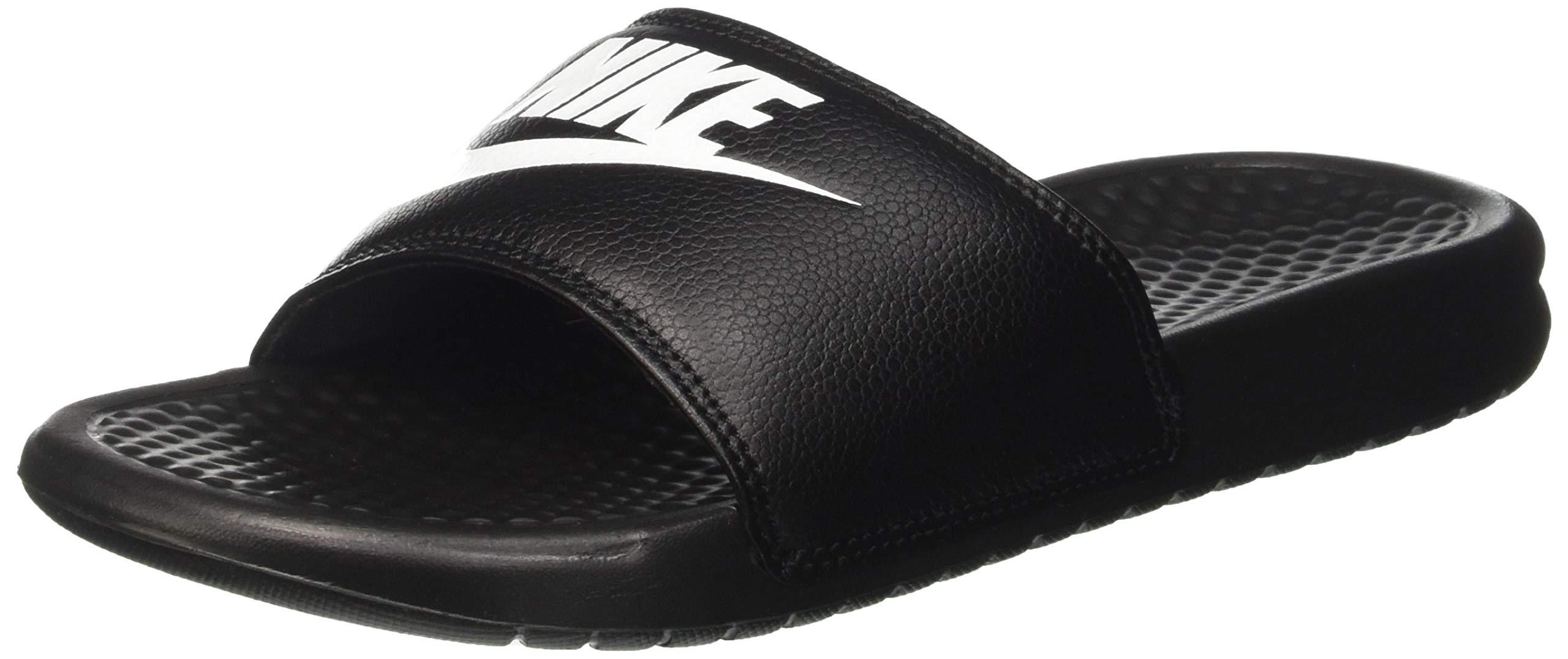 reputable site 50b81 db4ce Galleon - Nike Men s Benassi Just Do It Athletic Sandal, Black White Noir  Blanc, 12.0 Regular US
