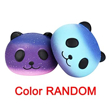 Amazon.com: Jumbo Galaxy Squishy Panda Bun Squishies Slow ...