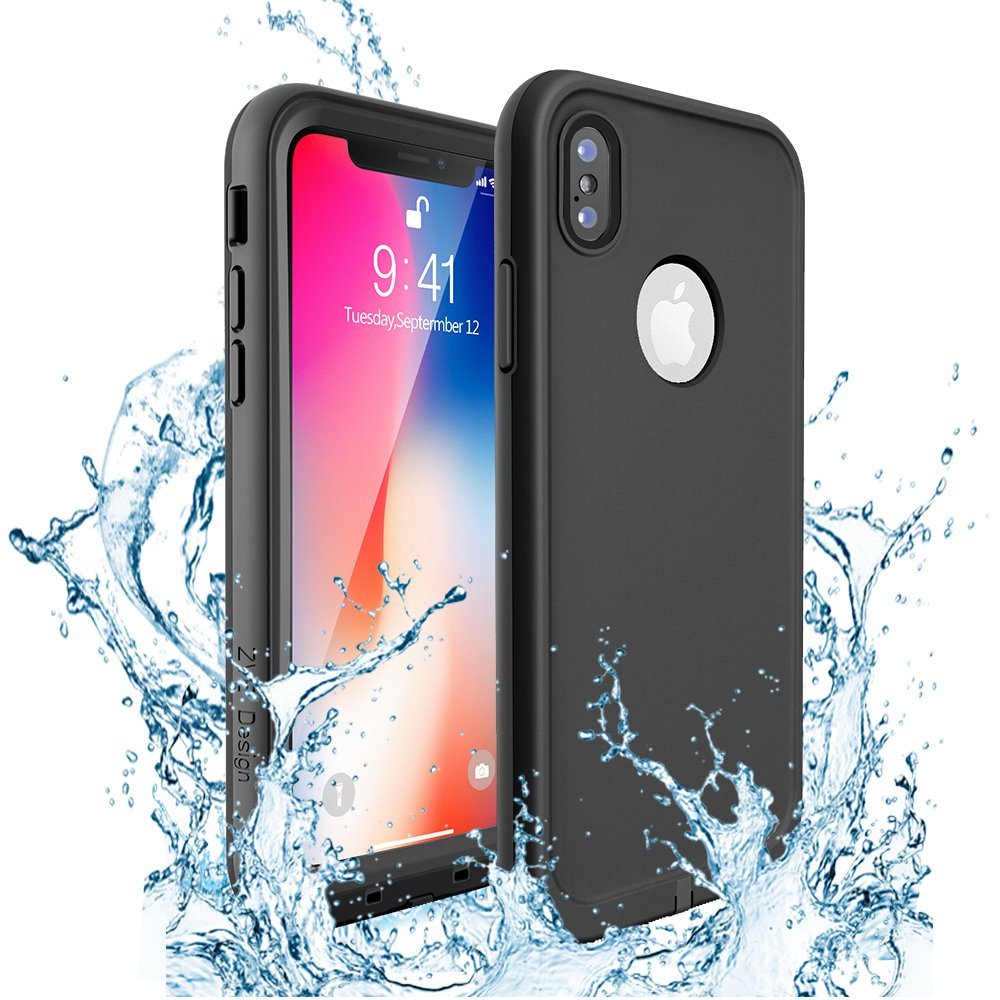 iPhone 7 Case Compatible, iPhone 8 Waterproof Case, ZVEproof Full Sealed Underwater Protective Cover, Dirtproof Snowproof Shockproof IP68 Certified Waterproof Case iPhone 7/8-4.7 inch (Black) 4336782229