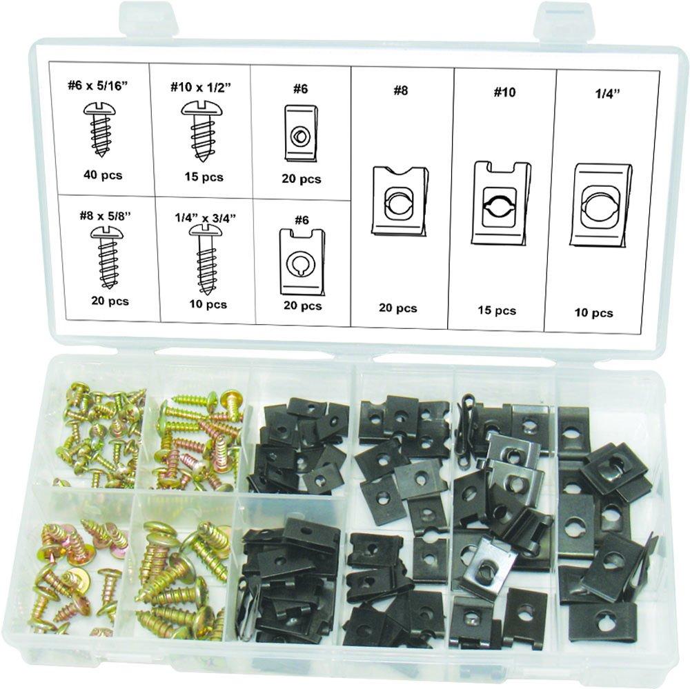 Swordfish 31390 Screw & U Nut/U-Clip Assortment, 170 Piece