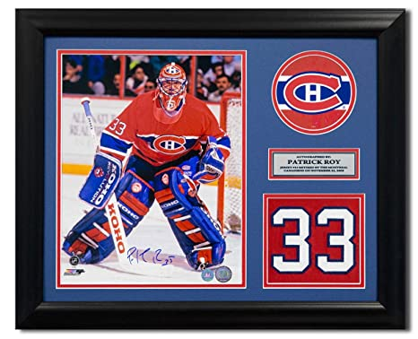 best website 6c9f2 daa14 Signed Patrick Roy Jersey - Retired Number 23x19 Frame ...