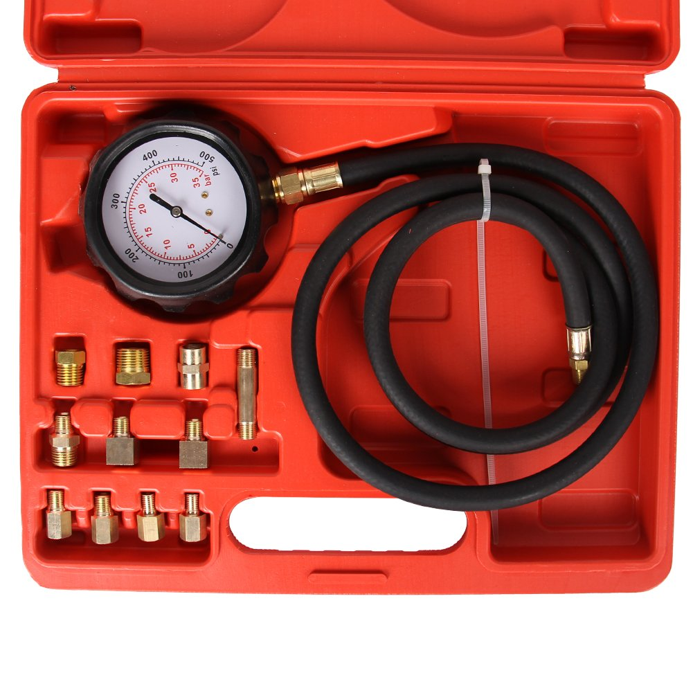High Performance 12 Pieces Automatic Transmission Engine Oil Pressure Tester Gauge TU-11A Diagnostic Test Kit 0-500psi(Automatic Transmission Pressure Tester) by B4B BANG 4 BUCK (Image #4)