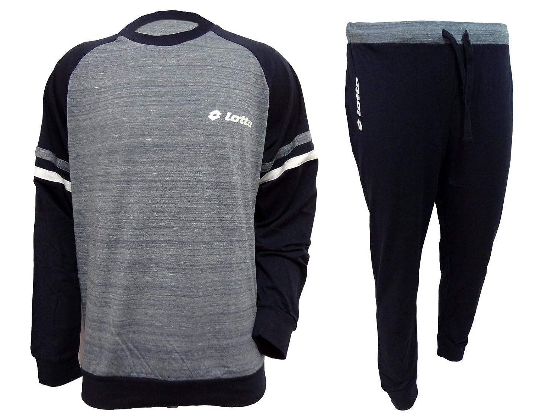 pigiama uomo lungo cotone jersey LOTTO homewear art. LP4023