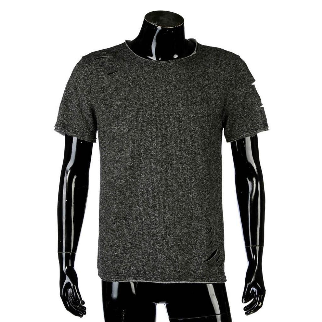 Tees Shirt T-Shirt Bluse Tops Herren Rundhals T-Shirts Shirt Kurzarm Top Shirt Basic Bodybuilding Sport Fitness Weste T-Shirt Kurzarm-Shirt Top Bluse Crew Rundhals Gym M/änner
