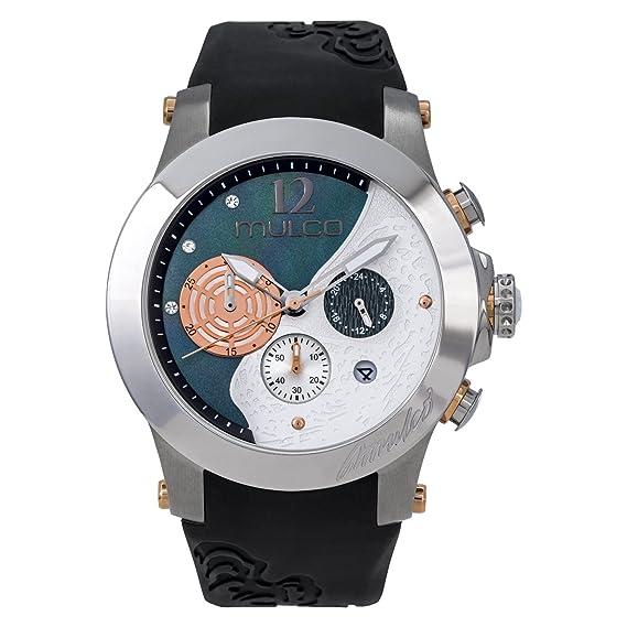 Mulco MW3 - 16061 - 021 windrock negro correa de silicona reloj de la mujer: Mulco: Amazon.es: Relojes