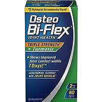 Osteo Bi-Flex Triple Strength + Turmeric, 80 Coated Tablets (Pack of 2)
