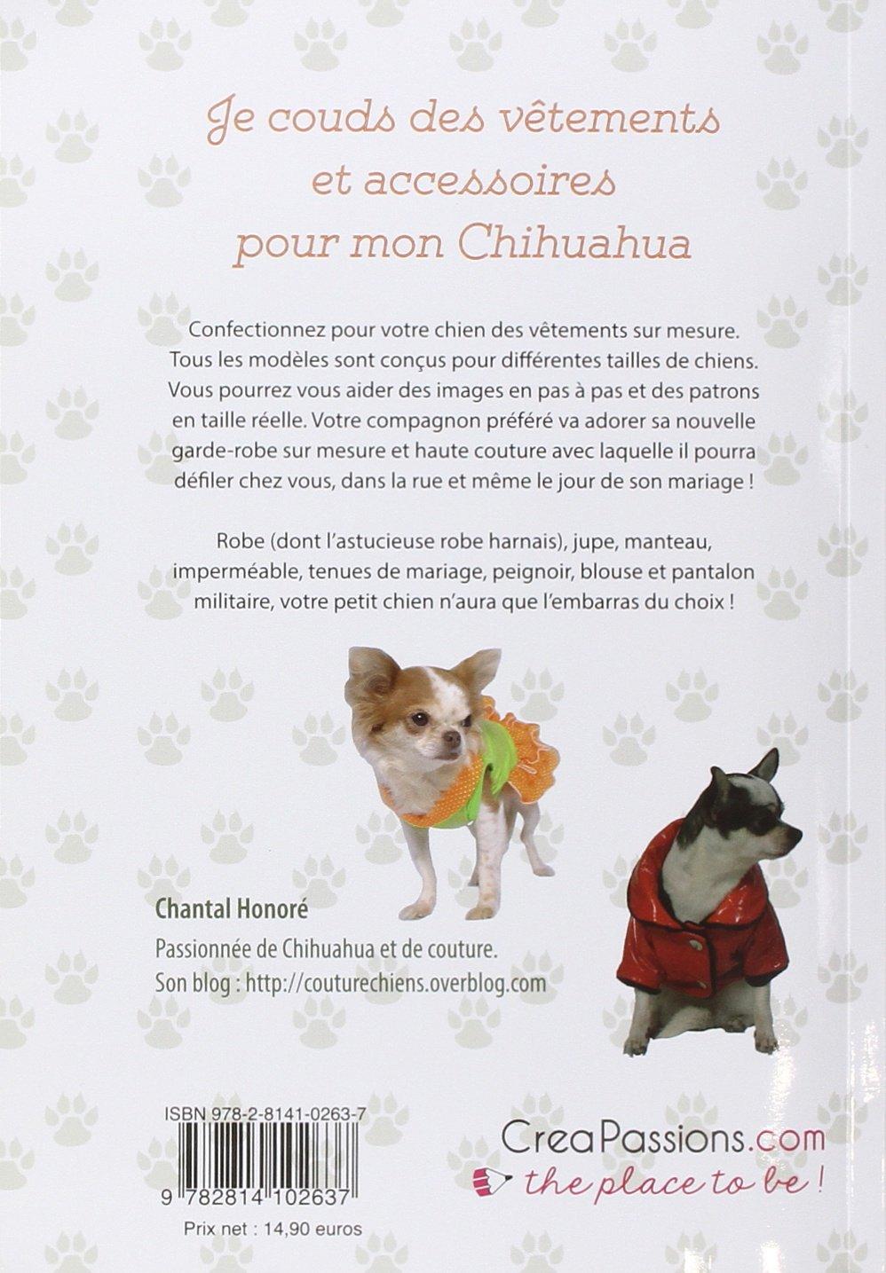 Amazonfr je couds des vtements et accessoires pour mon chihuahua et autres petits chiens chantal - Petit chien gratuit ...