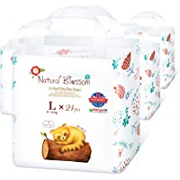 Natural Blossom Pull-up Underwear and Potty Training Pants, Size 4 (20-31 lbs) Super Soft Hypoallergenic Ultra-Slim, 96…