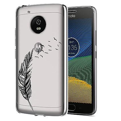 ocketcase Moto G5 Plus Funda, TPU Carcasa Suave Silicona Flexible Gel Funda Resistente a los Arañazos Tapa Protectora Case Cover para Motorola Moto G5 ...