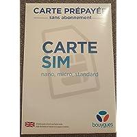 PA83® Carte SIM Bouygues Télécom prépayé sans engagement