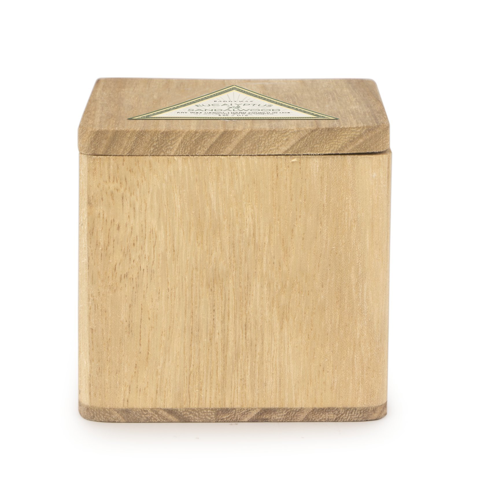 Paddywax Woods Collection Scented Soy Wax Candle in Mango Wood, 5-Ounce, Eucalyptus & Sandlewood