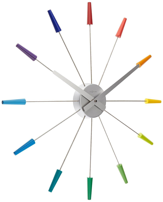 GRAMM medical NeXtime Wanduhr Plug INN, lautlos, bunt, aus Edelstahl, ø 58 cm