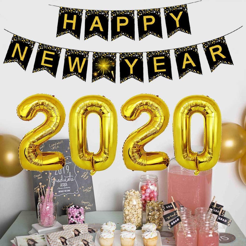 Amycute Decoraciones Feliz Año Nuevo 2020, 2020 Party Balloons ...