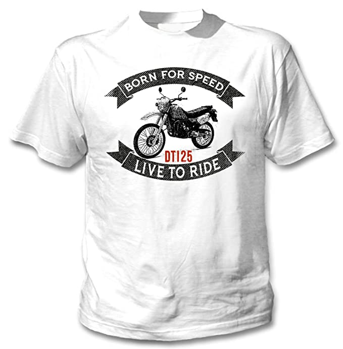 TEESANDENGINES Yamaha DT125 Camiseta Blanca para Hombre de Algodon Size Xxxlarge: Amazon.es: Ropa y accesorios