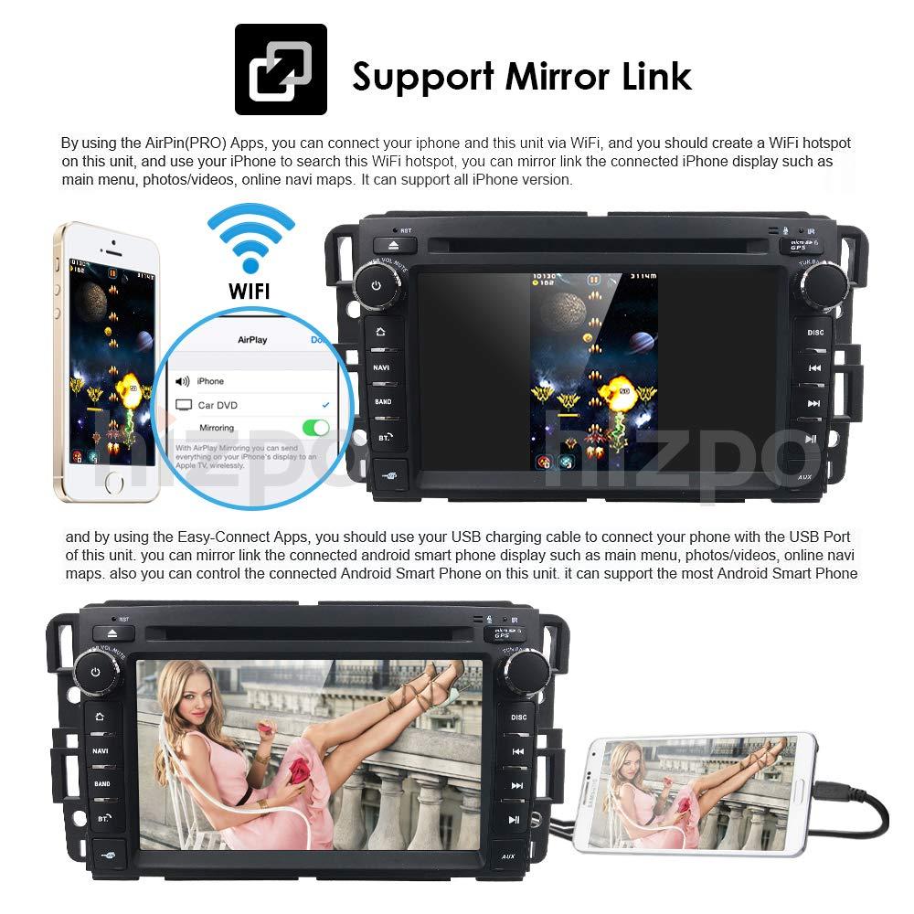 HIZPO Car Stereo Radio Audio 7 Inch Android 8.1 Oreo Car GPS Navigation Applicable to Chevrolet GMC Silverado 1500 2012 Sierra Express Avalanche Acadia Impal with WiFi Bluetooth Lizpo Co Ltd