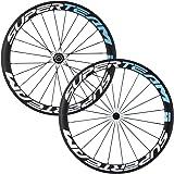 Superteam Carbon Fiber Road Bike Wheels 700C Clincher Wheelset 50mm Matte 23 width