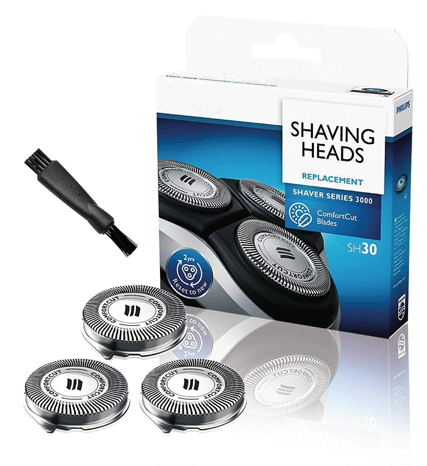 SH30 Replacement Heads for Philips Norelco Series 1000, 2000, 3000 Shavers,Suitable for a Variety of Razor Models to Replace the Head(new)3 pack(Amazon Selection)