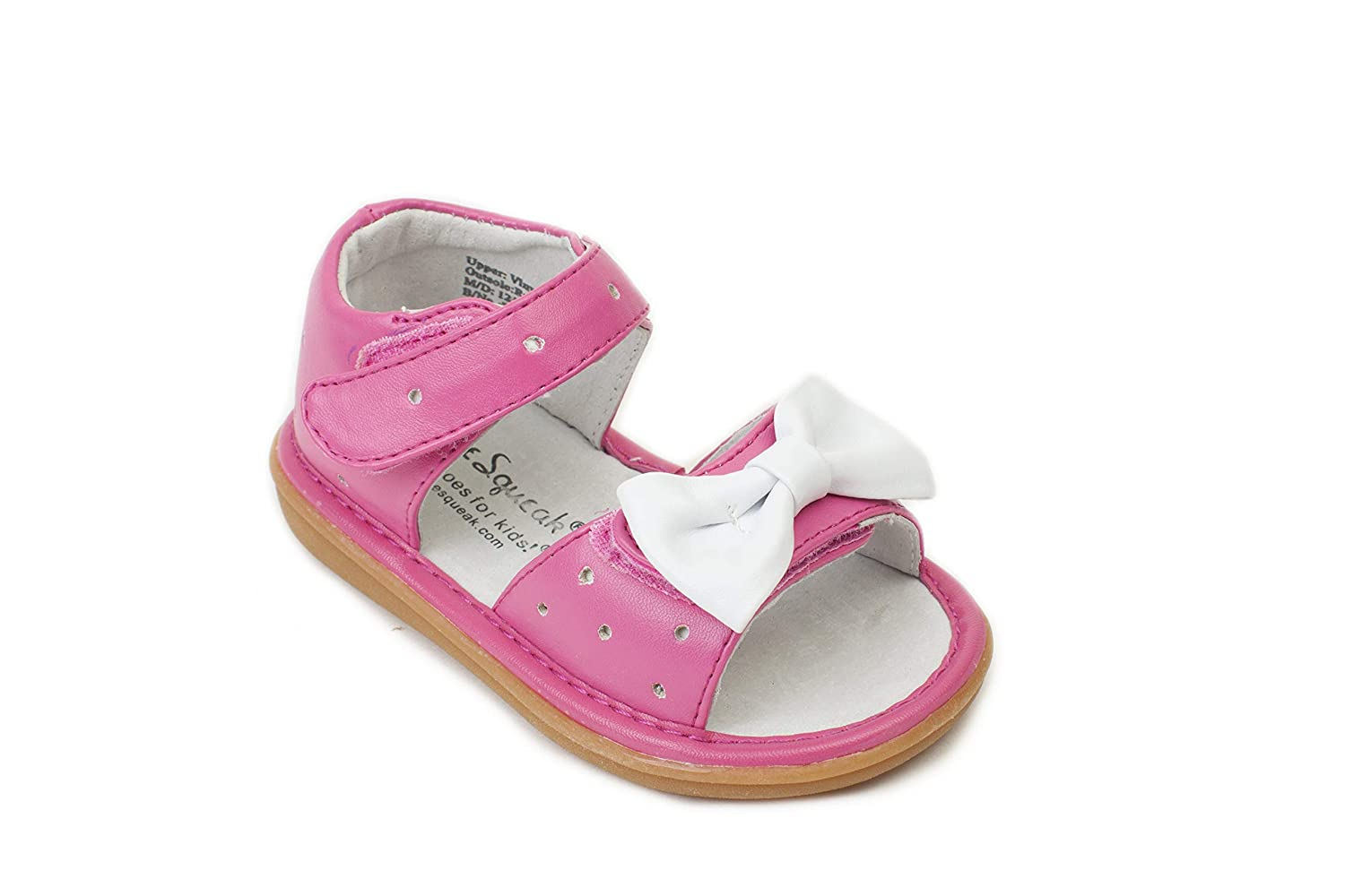 premium selection 9f87a a8d5a Amazon.com   Wee Squeak Stella Hot Pink Sandal Toddler Squeaky Shoe    Sandals