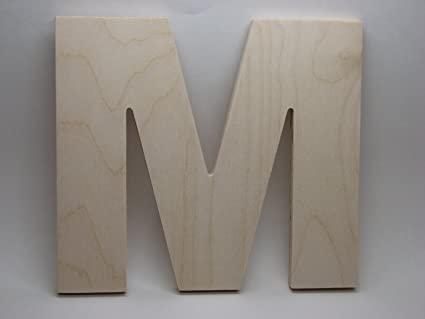 letterworx 8 wooden letter m arial font unfinished baltic birch wood 8